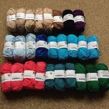 Cotton Mixed Lot Crocheting & Knitting Yarns