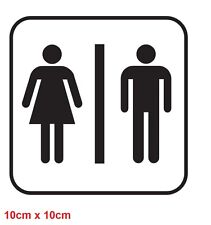 Toilet Sign Sticker Decal Bathroom Restroom Men Women Wc Door Gender Funny Vinyl