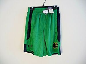 New Under Armour University of Notre Dame Irish youth Medium YMD boys shorts