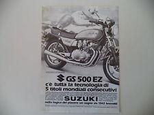 advertising Pubblicità 1982 MOTO SUZUKI GS 500 E