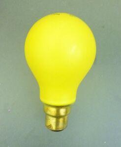 25W 240-250V Push In Yellow Coloured Light Bulb (SB286)