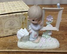 Precious Moments Figurine In Box To God Be the Glory E2823 Empty Frame Flower