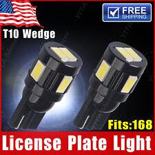 2 pcs  White T10 5630 6SMD High Power License 168 Wedge Heatsink LED Light Bulbs