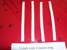 1/2 Inch Wide Wicks 4 pack 8 Inches long  for oil lamp  U.S.A.  8956