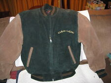 """Golden Casino� Letterman's Varsity Style Jacket – Suede(L)"