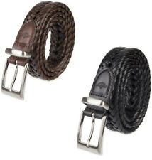 Dockers 11DK0453 Men's Genuine Leather Laced Braided Belt