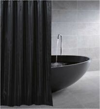 CLEARANCE Black Satin Stripe Fabric Shower Curtain New Free Shipping