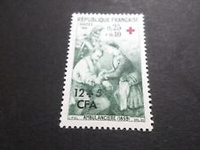 REUNION, 1966, timbre 370, CROIX ROUGE, neuf**, RED CROSS, VF MNH STAMP