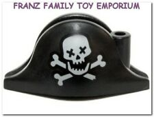 New LEGO Pirate Minifig Black HAT Skull Bones ZOMBIE Monster Head Gear