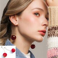 1 Paar Süße Rote Kirsche Obst Ohrringe Ohrstecker Damen Mädchen Mode schmuck Ins