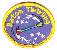 """"""" BATON TWIRLING""""- Iron On Embroidered Applique Patch- Sports,  Compete."""