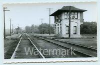 B/W snapshot photo railroad train depot stop FC #1