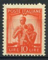 Italia Repubblica 1945 Sass. 559 Nuovo ** 100% Democratica 10 l.