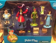 Peter Pan Cake Toppers Collectible Figures Set Disney World Theme Parks NEW