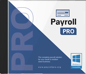 Payroll PRO software for Windows 10 - CD- Includes 12 month license