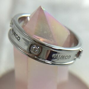 MIMCO 925 Sterling Silver Stirling Turnlock Ring Band 60243652 Size Large SZ 9