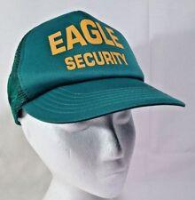 Eagle Security Trucker Hat Ball Cap SnapBack Foam Mesh Green