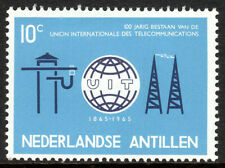 Netherlands Antilles 291,Mint.ITU,cent.Old and new communications equipment,1965