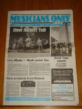 MUSICIANS ONLY 1980 APRIL 5TH STEVE HACKETT TOUR