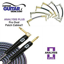 Analysis Plus 1ft Pro Oval Studio Guitar Patch Cable with Angle/Angle Plugs