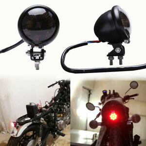1x Motorcycle LED Rear Tail Light Brake Stop Lamp For Harley Bobber Chopper Cafe
