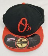 New Era 5950 BALTIMORE ORIOLES Black Orange 7.25 • 7-1/4 Cap MLB Baseball Hat