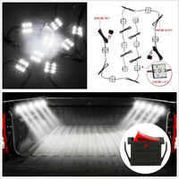 White 60 LED 12V Car Truck Bed Lamp RV Interior Ceiling Light with On/Off Switch