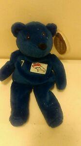 John Elway Broncos Salvino Bammer's plush beanie BEAR NFL Blue Bear Yellow #