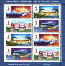 2018 FIFA WORLD CUP Russia™ / STADIUMS /MNH set of 8 stamps / Booklet / Soccer