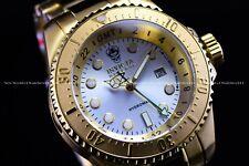 Invicta Men 52mm Reserve Hydromax 24K Gold Silver Dial Swiss 1000M Diver Watch