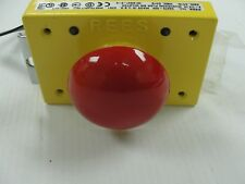 New Rees Pushbutton, 03476-002, Red Metal Mushroom Plunger