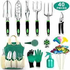 40 PCS Garden Tools Set Heavy Duty Aluminum Manual Garden kit Outdoor Gardening