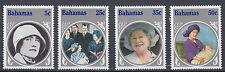 Bahamas 594 - 597 postfrisch 85. Geburtstag Königinmutter Elisabeth