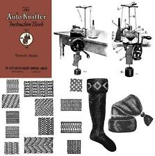 1923 Roaring 20s Flapper Auto Knitter Machine Knitting Knit Book with patterns