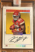 Kareem Hunt Autograph #/149 2017 Panini Contenders Rookie Round Up Auto RC