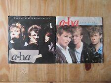 "A-Ha - The Sun Always Shines On TV & Take On Me  7"" Vinyl Single Records"