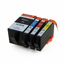4 Chipped Ink Cartridge 934XL 935XL for HP Officejet 6815 6835 6812 Printer