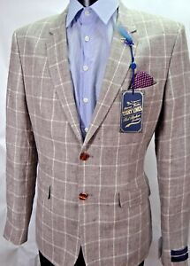 TED BAKER Tight Lines Taupe Gladez Jacket sz 42 RRP £345 BNWT