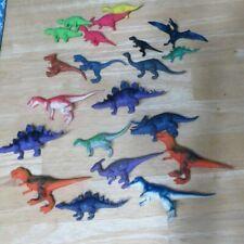 Dinosaur Figure Toy Lot Mini Plastic Assorted Stegosaurus Apatosaurus Raptors