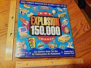 BRAND NEW NOVA Art Explosion 150,000 Images 7 CD-ROMs Windows Quality Clip Art !