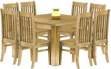 Esstisch Holz Pinie massiv 120x120 Brasil Restaurant Küche kolonial Tisch Tische