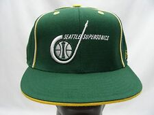 SEATTLE SUPERSONICS - NBA - REEBOK - FITTED SIZE 7 3/4 BALL CAP HAT! (SONICS)