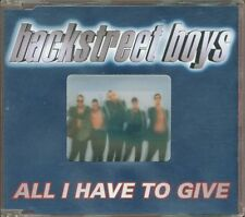 Backstreet Boys - All I Have To Give Holographic Cover Cd Ottimo