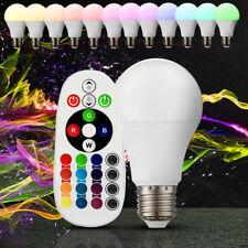 RGB LED 6 Watt Leuchtmittel Beleuchtung Lampe E27 warmweiß Fernbedienung 470 LM