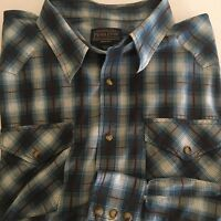 Pendleton  frontier pearl snap high grade western wear  shirt 60/40 cotton poly
