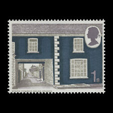 Great Britain 1970 (Error) 1s Rural Architecture missing new blue