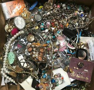 HUGE LOT 20+ Lbs JUNK Jewelry  HARVEST REPAIR CRAFT BROKEN UPCYCLE Lot 2