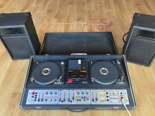 More details for studio 1 vintage dj twin turn table, cassette deck, mixer, amp and speakers