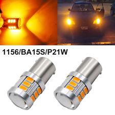 2X 1156 BA15S P21W LED Amber Orange Yellow Bulb 18SMD5630 5730 Parking Auto Lamp