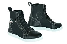 Motorbike Motorcycle Waterproof Boots Leather Sneakers ,Safety Shoes Black.